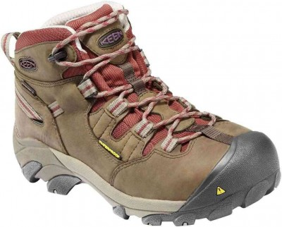 Keen Detroit Mid Black/Olive Brown Steel Toe Boot