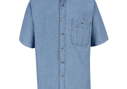 SD20 Adult's S/S Wrangler Denim Shirt by Red Kap